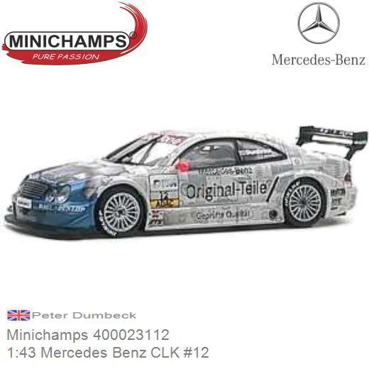 #6 Schuco Mercedes-Benz CLK DTM 2002 M 1:87 Fässler