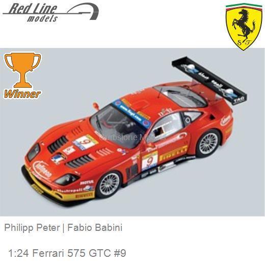 124 Red Line 24rl005 Ferrari 575 Gtc 9 Philipp Peter