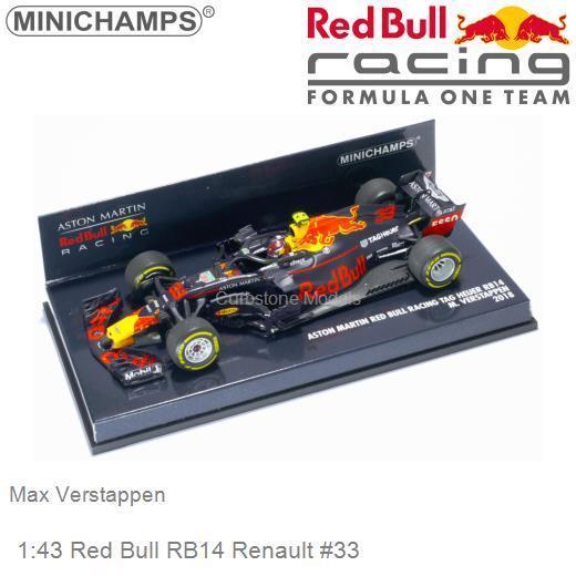 Modelauto 1 43 Red Bull Rb14 Renault 33 Max Verstappen Minichamps 410180033