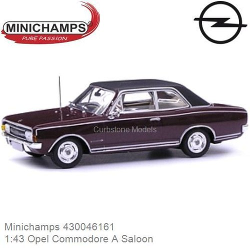 Modellauto 1:43 Opel Commodore A Saloon (Minichamps 430046161)