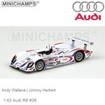 Modelauto 1:43 Audi R8 #38 | Andy Wallace (Minichamps 400010938)