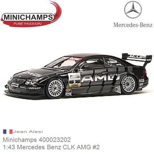 Maylander Minichamps 1//43 Mercedes Benz CLK DTM 2001 #9 B