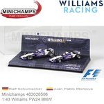 Modelauto 1:43 Williams FW24 BMW | Juan Pablo Montoya (Minichamps 402020506)