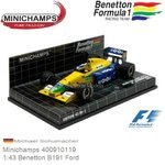 Modellauto 1:43 Benetton B191 Ford | Michael Schumacher (Minichamps 400910119)