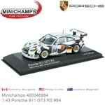Modellauto 1:43 Porsche 911 GT3 RS #84 | Anthony Burgess (Minichamps 400046984)