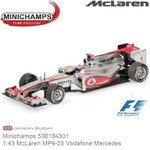 Modellauto 1:43 McLaren MP4-25 Vodafone Mercedes | Jenson Button (Minichamps 530104301)