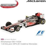 Modelauto 1:43 McLaren MP4-26 Vodafone Mercedes | Jenson Button (Minichamps 530114304)