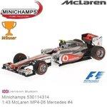 Modelauto 1:43 McLaren MP4-26 Mercedes #4 | Jenson Button (Minichamps 530114314)
