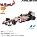 Modelauto 1:43 McLaren MP4-27 Mercedes #3 | Jenson Button (Minichamps 537124303)