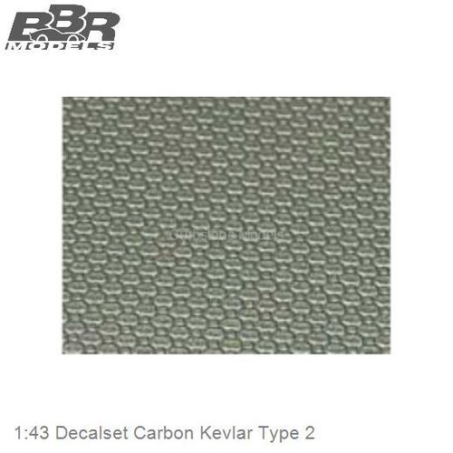 1:43 Decalset Carbon Kevlar Type 2 (DEC21)
