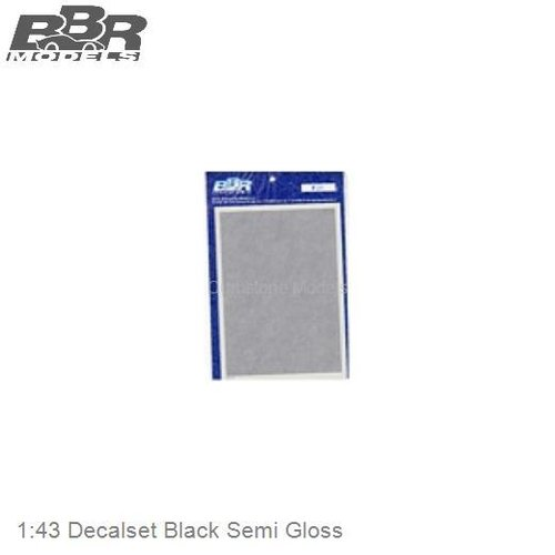 1:43 Decalset Black Semi Gloss (DEC22)