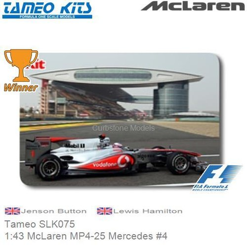 Bausatz 1:43 McLaren MP4-25 Mercedes #4 | Jenson Button (Tameo SLK075)
