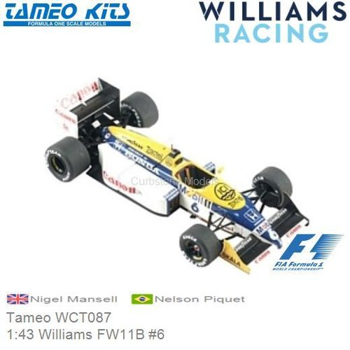Kit 1:43 Williams FW11B #6 | Nigel Mansell (Tameo WCT087)