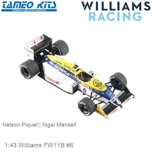 1:43 Williams FW11B #6 | Nelson Piquet (WCT087)