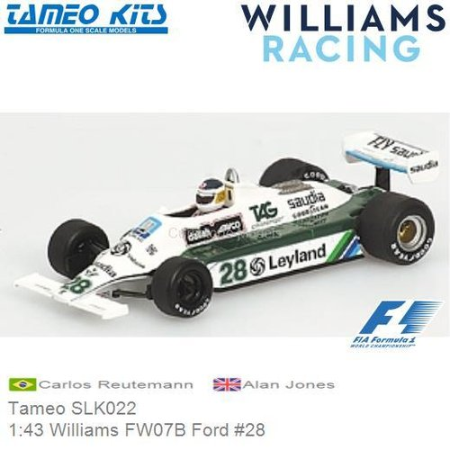 Kit 1:43 Williams FW07B Ford #28 | Carlos Reutemann (Tameo SLK022)