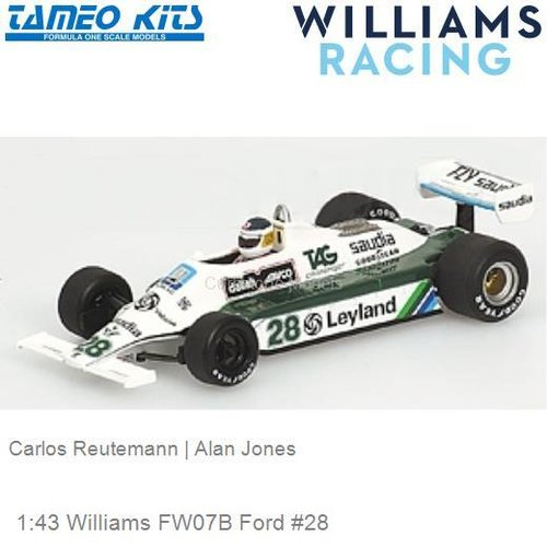 1:43 Williams FW07B Ford #28 | Carlos Reutemann (SLK022)