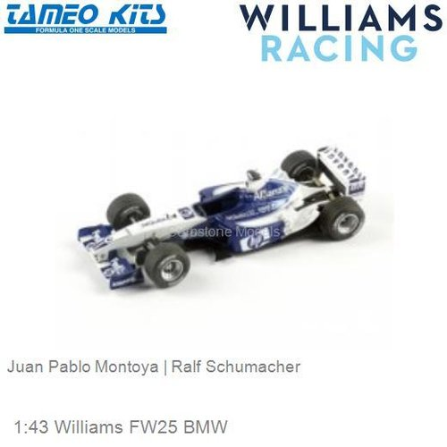 1:43 Williams FW25 BMW | Juan Pablo Montoya (SLK008)