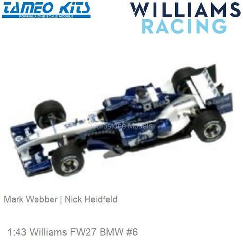1:43 Williams FW27 BMW #6 | Mark Webber (SLK019)