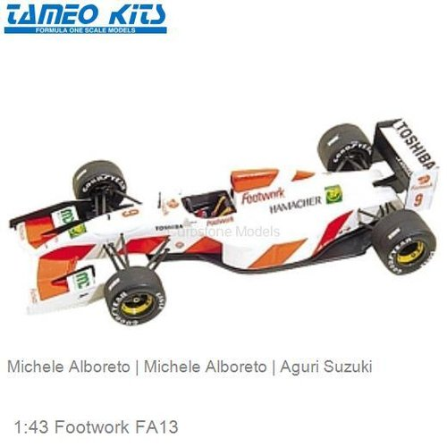1:43 Footwork FA13 | Michele Alboreto (TMK161)