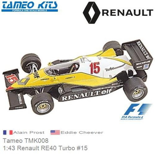 Kit 1:43 Renault RE40 Turbo #15 | Alain Prost (Tameo TMK008)