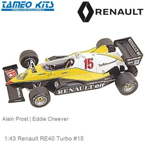 1:43 Renault RE40 Turbo #15 | Alain Prost (TMK008)
