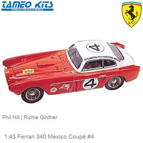 1:43 Ferrari 340 Mexico Coupé #4 | Phil Hill (TMK016)