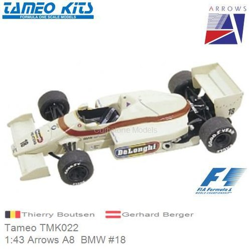 Kit 1:43 Arrows A8  BMW #18 | Thierry Boutsen (Tameo TMK022)
