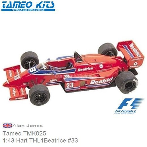 Kit 1:43 Hart THL1Beatrice #33 | Alan Jones (Tameo TMK025)