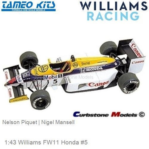 1:43 Williams FW11 Honda #5 | Nelson Piquet (TMK041)