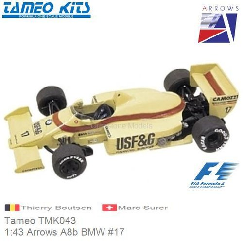 Kit 1:43 Arrows A8b BMW #17 | Thierry Boutsen (Tameo TMK043)