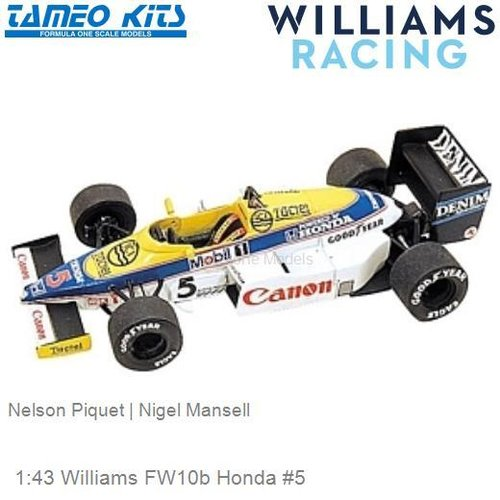 1:43 Williams FW10b Honda #5 | Nelson Piquet (TMK051)