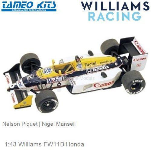1:43 Williams FW11B Honda | Nelson Piquet (TMK054)