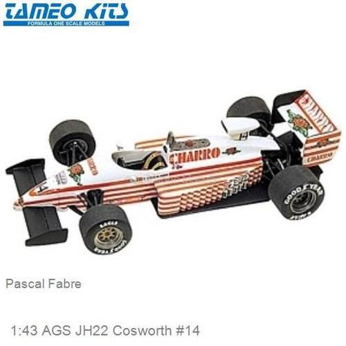 1:43 AGS JH22 Cosworth #14 | Pascal Fabre (TMK059)