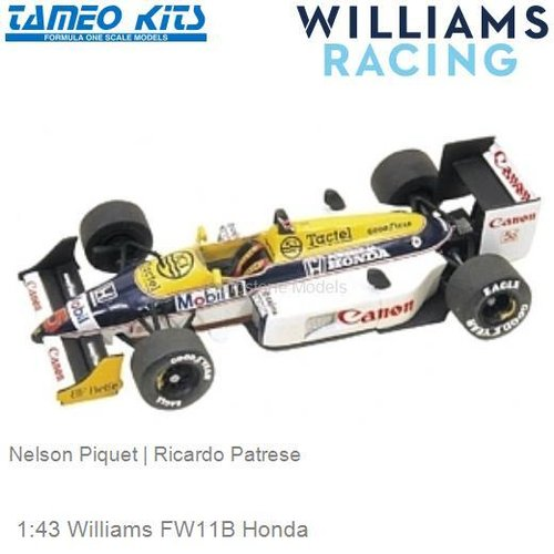 1:43 Williams FW11B Honda | Nelson Piquet (TMK067)