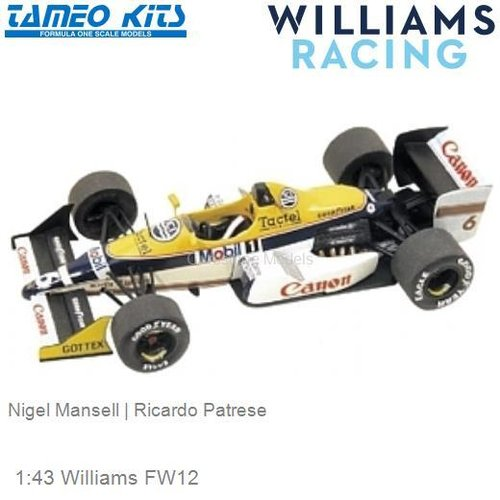 1:43 Williams FW12 | Nigel Mansell (TMK071)