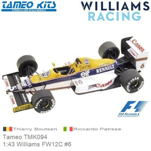Kit 1:43 Williams FW12C #6 | Thierry Boutsen (Tameo TMK094)
