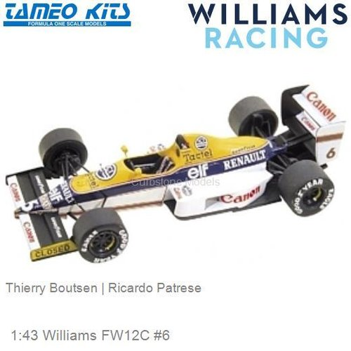 1:43 Williams FW12C #6 | Thierry Boutsen (TMK094)