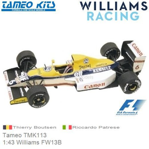 Kit 1:43 Williams FW13B | Thierry Boutsen (Tameo TMK113)