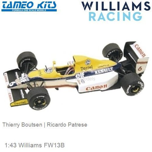 1:43 Williams FW13B | Thierry Boutsen (TMK113)