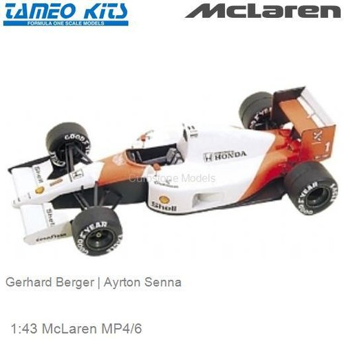 1:43 McLaren MP4/6 | Gerhard Berger (TMK137)