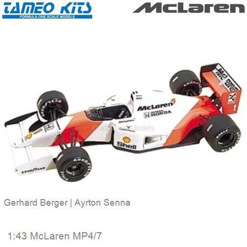 1:43 McLaren MP4/7 | Gerhard Berger (TMK158)