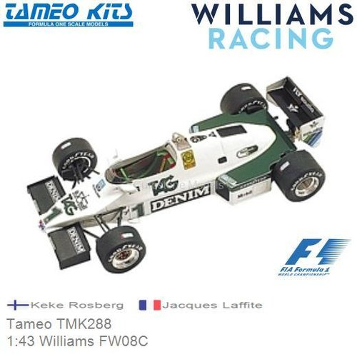 Kit 1:43 Williams FW08C | Keke Rosberg (Tameo TMK288)