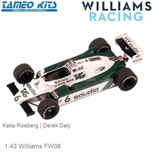 1:43 Williams FW08 | Keke Rosberg (TMK302)
