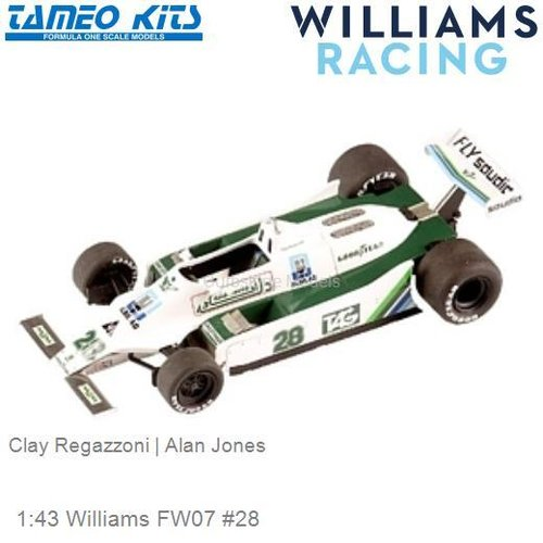 1:43 Williams FW07 #28 | Clay Regazzoni (TMK304)