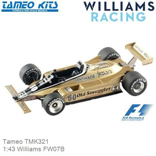 Kit 1:43 Williams FW07B (Tameo TMK321)