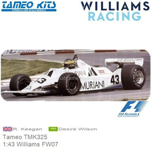 Kit 1:43 Williams FW07 | R. Keegan (Tameo TMK325)