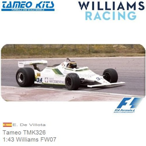 Kit 1:43 Williams FW07 | E. De Villota (Tameo TMK326)