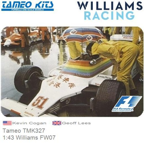 Kit 1:43 Williams FW07 | Kevin Cogan (Tameo TMK327)