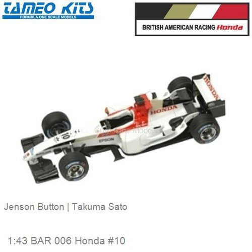 1:43 BAR 006 Honda #10 | Jenson Button (SLK015)