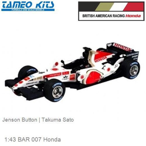 1:43 BAR 007 Honda | Jenson Button (SLK025)
